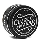 Charlemagne Premium Matte Pomade - Starker Halt - Leather Geruch - Edler Duft - Matt Look Finish...