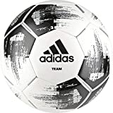 adidas Team Glider Fußball, White/Black/Silver Metallic, 5