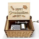 veratwo Abschluss-Geschenk – Happy Graduation Day Spieluhr – Handkurbel aus Holz, Musikbox für...