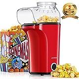 Aicook Popcornmaschine 1400W, Heiluft Popcorn Maker Machine fr Zuhause, Groe Kapazitt fr bis zu 120g...