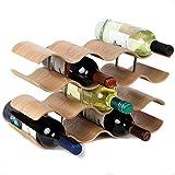 YAYY Bambus Weinregal Flaschenregal mit 4 Ebenen fr 14 Flaschen Weinhalter Weinstnder...
