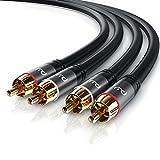 CSL - Stereo Cinch Audio Kabel - 10m Meter - 2X Cinch zu 2X Cinch Audiokabel - AUX Eingänge -...