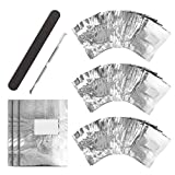 Nail Polish Remover Wraps Pads, UNEEDE 300 Stck Aluminiumfolie Nagellack Remover Pads und 1 Stck...