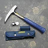 Geologenhammer als Paket 3 für z.B. Erstsemester mit Estwing Pickhammer, Lupe und Tasche