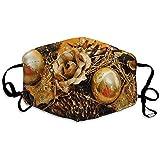 Weled Mundmaske Half Face Masken Komfortable atmungsaktive Unisex staubdichte Weihnachtskerzen...