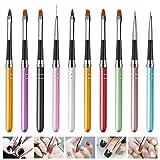 Siumir Nagel Pinselset 10 PCS Gel Nail Art Pinsel Nageldesign-Stifte für UV-Gel und Acryl