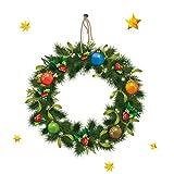 Frohe Weihnachten Wandaufkleber Abnehmbare Pvc Kranz Muster Druck Haushalt Room Mural...