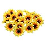 FLAMEER 30 STK. Künstliche Blumen, Sonnenblumen Blütenköpfe Blumenstrauß Dekoration
