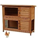 Owl's-Yard Kaninchenstall aus Holz Kleintierhaus Outdoor Tierstall, Hasenstall Holz für draußen...