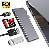 USB-C Hub, Type C Hub Adapter Slim Aluminium Thunderbolt 3 Hub Dongle für MacBook Pro...