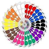 5cm Runde Punktaufkleber Farbkodierung Etiketten Markierungspunkte - 10 Farben, 240 Stck