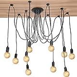 Cocoarm Spinne Kronleuchter DIY Decke Spider Lampe Retro Industry Ceiling Light DYI Vintage...