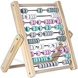 Kindsgut Abakus Rechenschieber aus Holz, zum Zählen und Rechnen bis 100, hochwertige Qualität,...