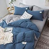 Rebily Pure Color Mode Frische Gewaschene Baumwolle Vierteiliges Set Nordic Art Schlafsaal...