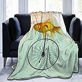Pinakoli Fleece Decke Einrad Goldfisch Decken Hause Nette Weiche Für Sofa Stuhl Bett Büro Reisen...