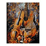 Empty Bilder malen nach Zahlen handgemalte Leinwand Cartoon Zeichnung DIY lgemlde nach Zahlen Geige...