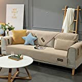 Hybad Sofa schonbezug,schonbezug Couch,2/3/4 Seater Fabric cool Sofa mat,Summer Couch Cover Seat...