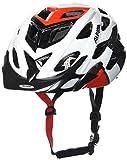 ALPINA D-ALTO Fahrradhelm, Unisex– Erwachsene, white-black red, 52-57