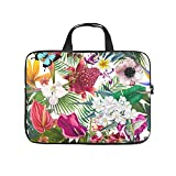 Tropischer Schmetterling Vogel Blumen Gedruckt Laptop Tasche Schutzhülle Wasserabweisend Neopren...
