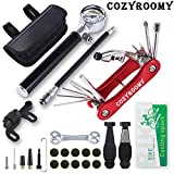 COZYROOMY Fahrrad Reifen Reparaturset - Reparatur Werkzeug Set mit 210 Psi-Minipumpe 10 in 1...