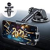 Handyhalter fürs Auto, DesertWest 4 in 1 Auto Handyhalterung Lüftung & Saugnapf 100% Silikonschutz...