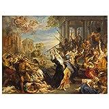 JUNIWORDS Poster, Peter Paul Rubens, Der bethlehemitische Kindermord, 80 x 60 cm