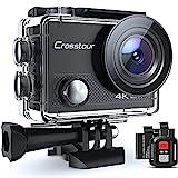Action Cam, 4K/30FPS Wasserdicht 40M 4K Unterwasserkamera CT9000 (WiFi Helmkamera Fernbedienung und...