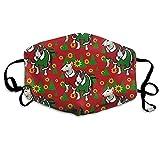 Anti-Staub-Maske Bullterrier Weihnachten Anti-Staub-Maske, waschbar, Wiederverwendbare Mundmasken