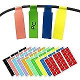 10 Farben, 300 Stck, Kabel Etiketten Selbstklebend Kabelbeschriftung A4-Format, fr Laserdrucker