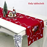 szyzl88 Weihnachten Tisch Flagge, Multi-Funktions Rechteckig Santa Bestickt Tisch Flagge Weihnachten...