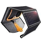 CHOETECH Solar Ladegerät, 22W Solarpanel Tragbar Wasserdichtes Solarladegerät Outdoor Kompatibel...