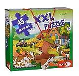 Noris 606031565 XXL Riesenpuzzle, Urlaub auf dem Bauernhof - mit 45 Teilen (Gesamtgröße: 64 x 44...