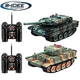 s-idee 01662 2 x Battle Panzer 1:28 mit integriertem Infrarot Kampfsystem 2.4 Ghz RC R/C...