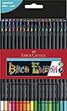Faber-Castell 116436 - Buntstifte Blackwood, 36er Etui