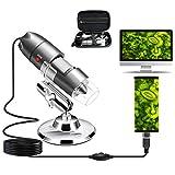 Cainda USB-Mikroskop-Kamera, 40 x bis 1000 x, digitales Mikroskop mit Metallständer und...