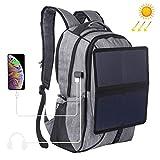 DYYTR Solar-Rucksack, Zusammenklappbarer Solar Charging Board Leisure Travel Outdoor Computer Bag,...