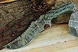 ABMERAH Jagdmesser Hunter Survival Knife Kampfmesser 440c Stahl Tarn Muster Messer