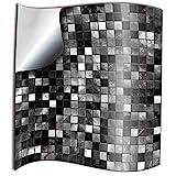 Tile Style Decals 24 stück Fliesenaufkleber für Bad und Küche (TP3-6 Black and White)   Mosaik...