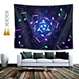 BAOQIN Tapisserie Tapestry Mandala Hippie Bohemian Tapestries Wall Hanging Neon Music Tapestry Wall...