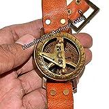 Sabri Home Gifts Sonnenuhr mit Kompass, Messing, Marite-Uhr, mit Gravur