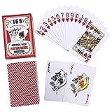 ASDZ lustige Spielkarten Qualitäts-100% PVC Spielkarten aus Kunststoff Wasserdicht Poker Set-Karte...