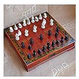 YANYAN Schachspiel Holztisch Schach Chinesisches Schach Spiele Harz Chessman Weihnachten Geburtstag...