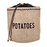 Kitchen Craft Natural Elements Kartoffel-Beutel aus Sackleinen mit schwarzem Futter