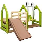 LittleTom Kinder Spielplatz ab 1 Jahr - 155x135 Garten Spielturm - Baby Rutsche mit Schaukel