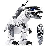 ANTAPRCIS RC Ferngesteuert Dinosaurier Roboter, Programmierbar Dino mit Licht und Sound, Intelligent...