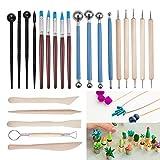 BENECREAT 23PCS Kugelschreiber punktiert Modellierung Werkzeuge Keramik Carving-Tool-Set - enthalt...