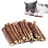 Kito Lee 30 Stück Katzenminze Sticks, Matatabi Katzen Kauhölzer, Matatabi-Kausticks als...