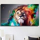 HD-Bild Leinwanddrucke lgemlde Wandkunst Zusammenfassung Bunte Lwe Tier Wohnzimmer Home Decoration...