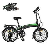 CM67 Klappbar Fahrrad 20 Zoll E-Bike Damen Folding Frame Aus Alu Leicht E Bike 7 Gang Damen Mit...