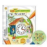 tiptoi Ravensburger Buch - Mein Lern-Spiel-Abenteuer | Uhr und Zeit + ABC Kinder Werbesticker von...